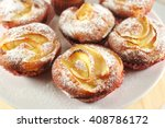 apple muffins with icing sugar | Shutterstock . vector #408786172