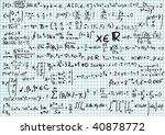 mathematics formula on squared... | Shutterstock .eps vector #40878772