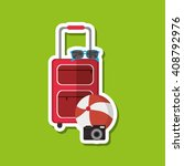 icon of vacations design ... | Shutterstock .eps vector #408792976