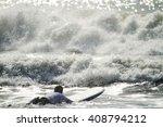 surfer at the beach | Shutterstock . vector #408794212