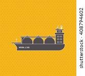 industry ship design   vector... | Shutterstock .eps vector #408794602