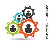 teamwork concept design  | Shutterstock .eps vector #408804355