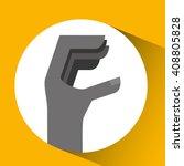 hand language design  | Shutterstock .eps vector #408805828
