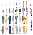 generation. people of life. | Shutterstock .eps vector #408808105