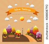 geometric vector autumn... | Shutterstock .eps vector #408808792