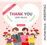 family month illustration | Shutterstock .eps vector #408809062