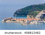east view of budva old town  a... | Shutterstock . vector #408812482