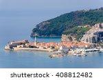 east view of budva old town  a... | Shutterstock . vector #408812482