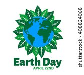 earth day poster template    Shutterstock .eps vector #408824068