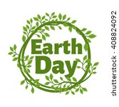 earth day poster template  | Shutterstock .eps vector #408824092
