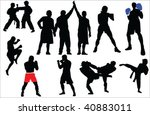 different sport fighting... | Shutterstock .eps vector #40883011