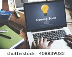 coming soon opening promotion... | Shutterstock . vector #408839032