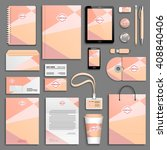 trendy colorful corporate... | Shutterstock .eps vector #408840406