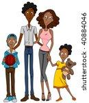 African American Family - Vector - stock vector