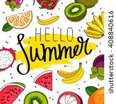 quote hello summer. trend... | Shutterstock .eps vector #408840616