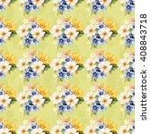 seamless pattern blue white... | Shutterstock .eps vector #408843718
