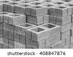 stacks of interlocking stones... | Shutterstock . vector #408847876
