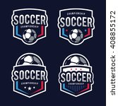 soccer logos  american logo... | Shutterstock .eps vector #408855172