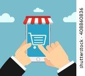 online store concept...   Shutterstock .eps vector #408860836