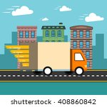 concept of the delivery service.... | Shutterstock .eps vector #408860842
