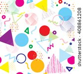 abstract colorful geometric... | Shutterstock .eps vector #408861208