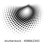 abstract dotted background.... | Shutterstock . vector #408862342