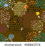 abstract seamless pattern with... | Shutterstock . vector #408862576