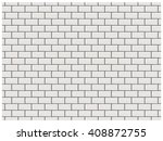 White Brick Wall In Subway Tile ...