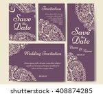wedding card collection.... | Shutterstock .eps vector #408874285
