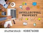 intellectual property business... | Shutterstock . vector #408876088