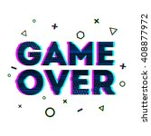 word game over in ornamental... | Shutterstock .eps vector #408877972