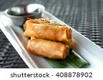 vegetable fried spring rolls... | Shutterstock . vector #408878902