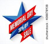 memorial day sale banner vector ... | Shutterstock .eps vector #408878938