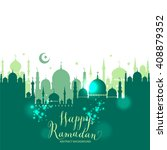 muslim abstract greeting... | Shutterstock .eps vector #408879352