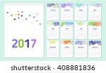 2017 loose leaf calendar...   Shutterstock .eps vector #408881836