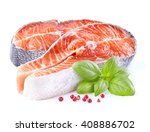 salmon with spices | Shutterstock . vector #408886702
