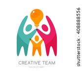 vector human logo  emblem... | Shutterstock .eps vector #408888556