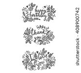 Lettering Greeting Card. Happy...