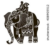 vector illustration of a tribal ... | Shutterstock .eps vector #408905512