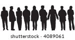 variety of different people... | Shutterstock . vector #4089061