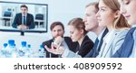 shot of a group of young people ...   Shutterstock . vector #408909592