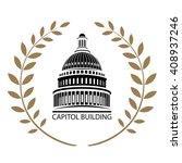 us capitol building | Shutterstock .eps vector #408937246