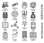 business management icons. pack ... | Shutterstock . vector #408941236