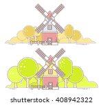 vector illustration of color... | Shutterstock .eps vector #408942322