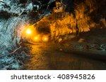 the thurston lava tube in... | Shutterstock . vector #408945826