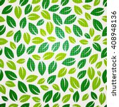 seamless leaf pattern. | Shutterstock .eps vector #408948136