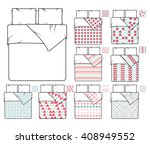 bedding and linen template and...   Shutterstock .eps vector #408949552