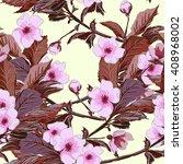 vintage wallpaper seamless... | Shutterstock . vector #408968002