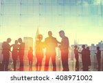 business people corporate... | Shutterstock . vector #408971002