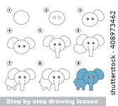 raster copy. step by step... | Shutterstock . vector #408973462